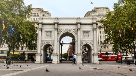 royal park: Marble Arch monument in London, UK