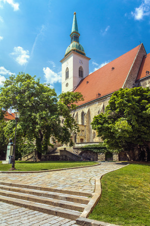 St. Martin's Cathedral in Bratislava in a summer day, Slovakia Stock fotó