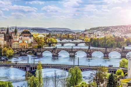 czech republic: The skyline of Prague , Czech Republic