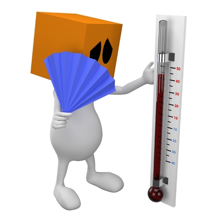 Looking in thermometer photo