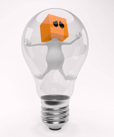 trapped in the bulb photo