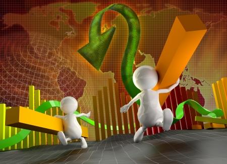 estadisticas: Personas 3D ladrones peque�os gr�fica