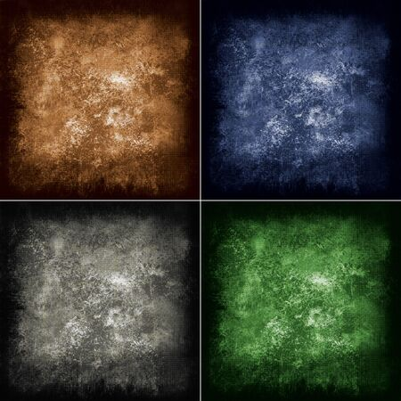 nice abstract grunge background in four different colors Stock Photo - 15557576