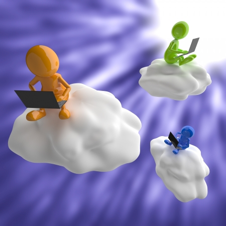 3D People Cloud Computing photo