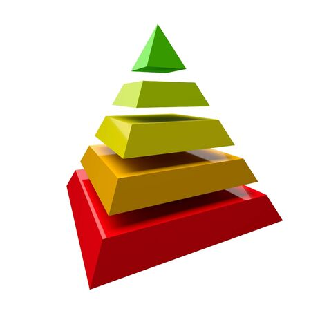 Glossy Colorful Pyramid