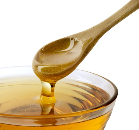 honey and spoon Stock Photo