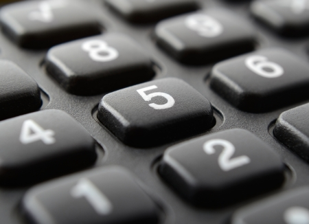 calculator keypad close up photo