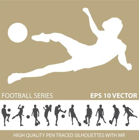 football soccer silhouettes  Vector