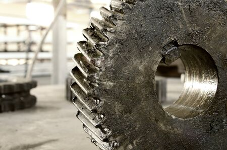 grunge gear close up abstract concept Stock Photo - 21892912
