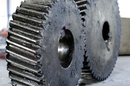 old grunge gears close up abstract concept Stock Photo - 21892913