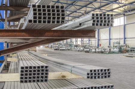 sheet metal: sheet metal tin profiles in production hall