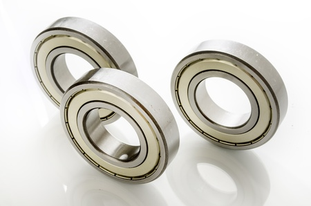 bearings on white with reflection photo