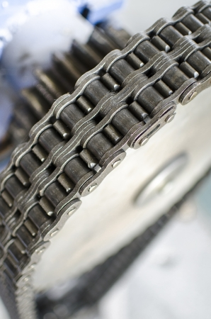 gear and chain close up Stock Photo - 21892931
