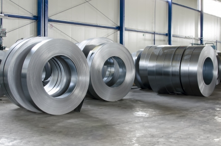 sheet tin metal rolls Stock Photo - 21892934