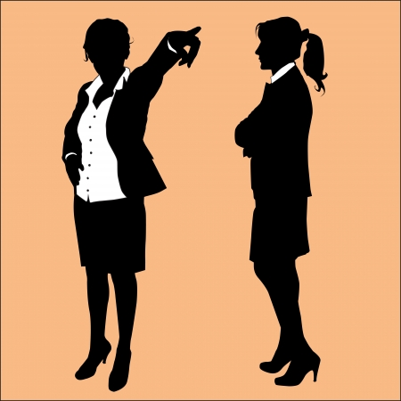 business woman silhouette Stock Vector - 22778218