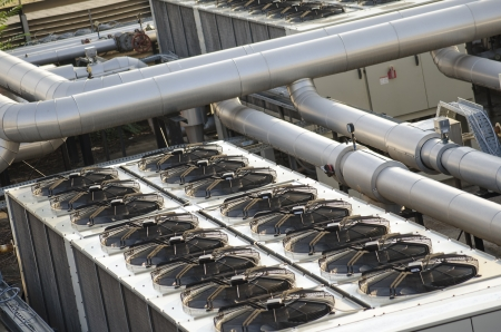 air cooling industrial system with fans