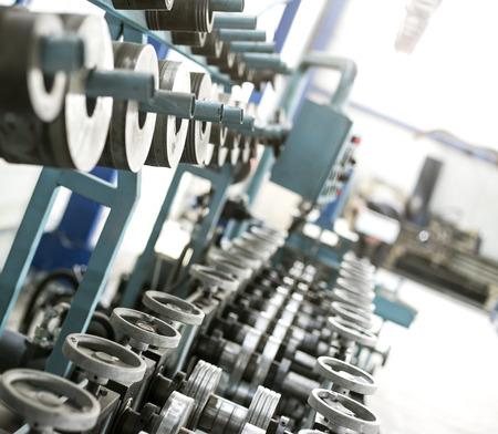 sheet metal profiles production machine close up photo