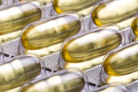 omega 3 capsules close up photo