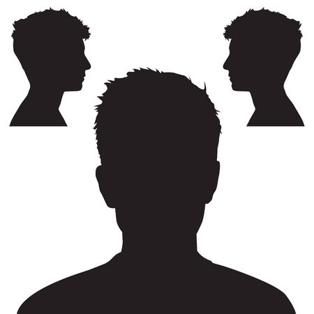 People head silhouette Vector