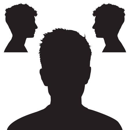 People head silhouette