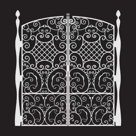 iron: Beautiful iron Gate Silhouette