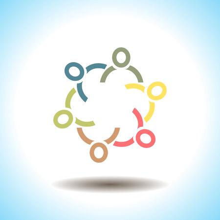 People unity vector icon concept Vector