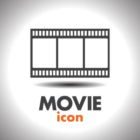 film set: movie film strip vector icon