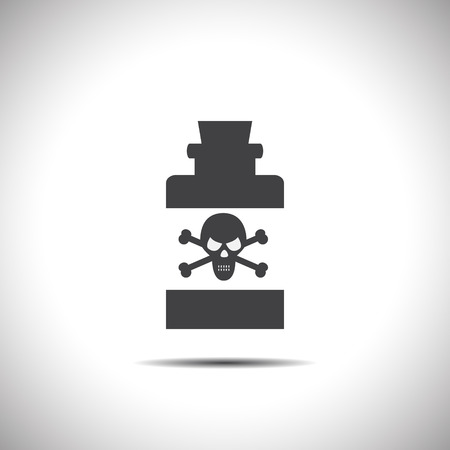 bottle with poison vector icon Vector