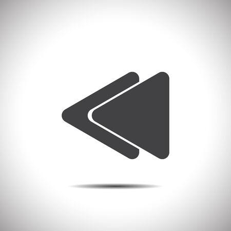 fast backward button vector icon Vector