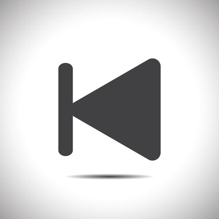 fast backward next track button vector icon Vector