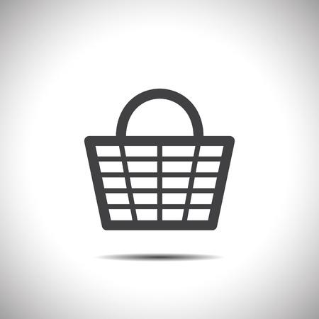 shopping basket vector icon Vector