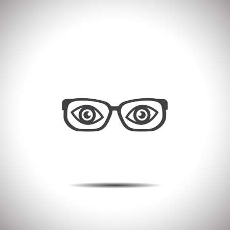 glasses with eyes vector icon Vector