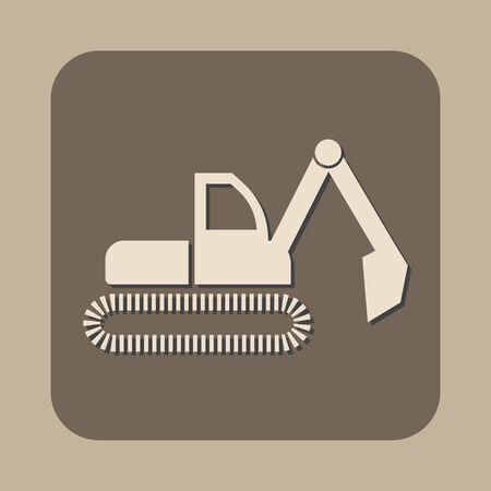 dredge symbol vector icon Vector