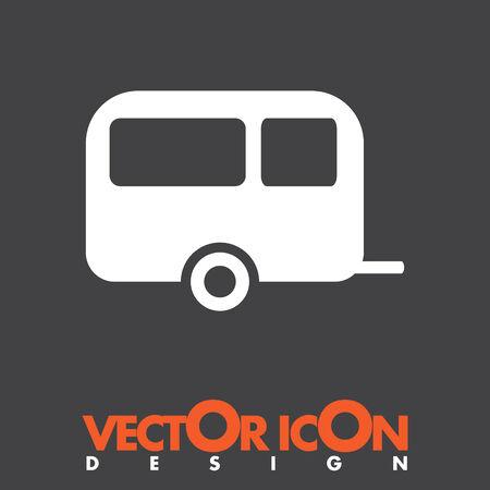 camping trailer vector icon Vector