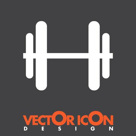 dumbbells vector icon Vector
