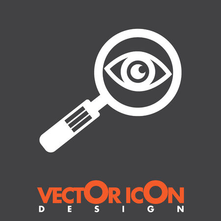 magnifying glass and eye vector icon Vector