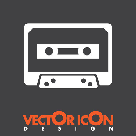 music tape vector icon Vector