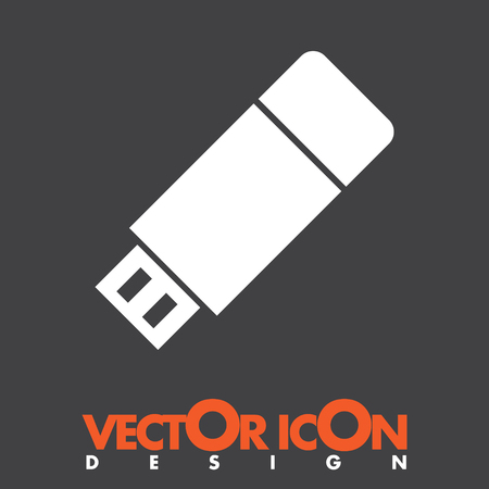 usb stick vector icon Vector