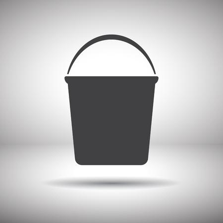 bucket vector icon Vector