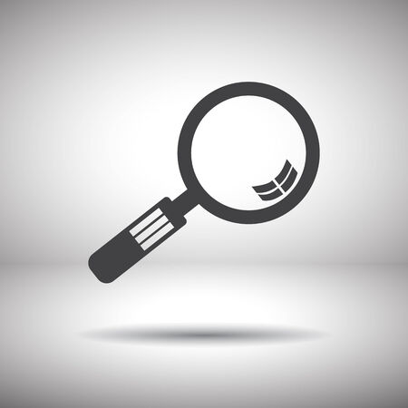 magnifier glass: magnifying glass vector icon Illustration