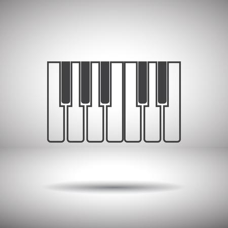 piano keys icon Vector