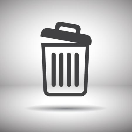 recycle bin icon empty Vector