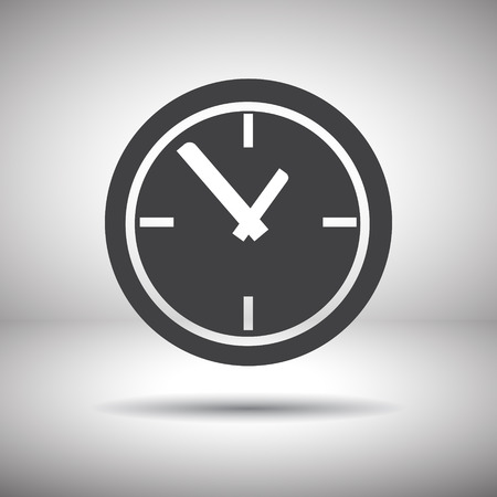 round the clock: time clock vector icon Illustration