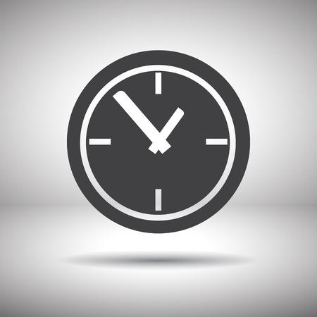 time clock vector icon Stock Illustratie