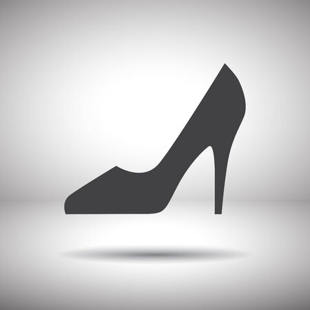 fashion shoes: woman shoes vector icon Illustration