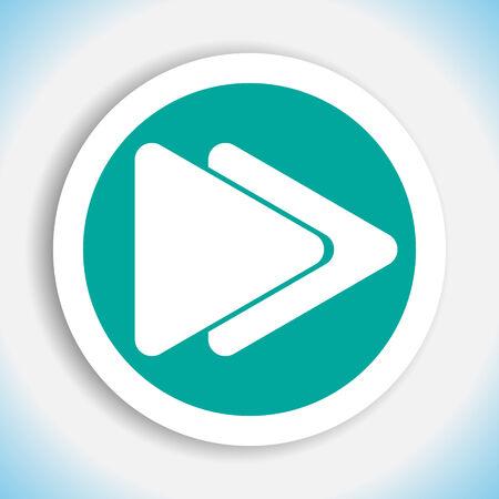 fast forward button vector icon Vector