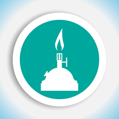 laboratory burner vector icon Vector
