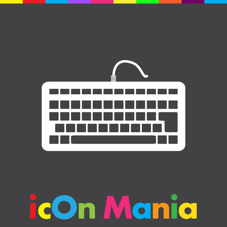 keyboard key: keyboard vector icon Illustration