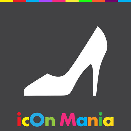 black woman: woman shoes vector icon Illustration