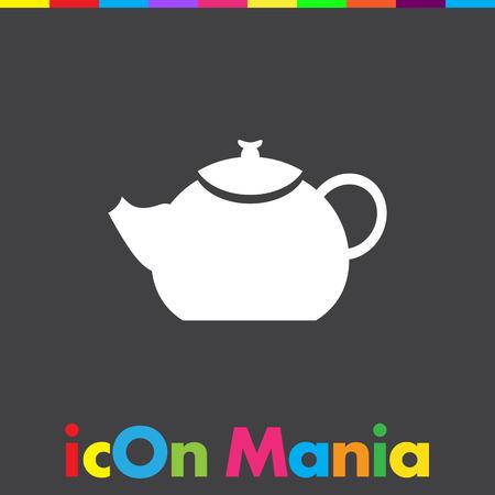 creamer: teapot vector icon Illustration